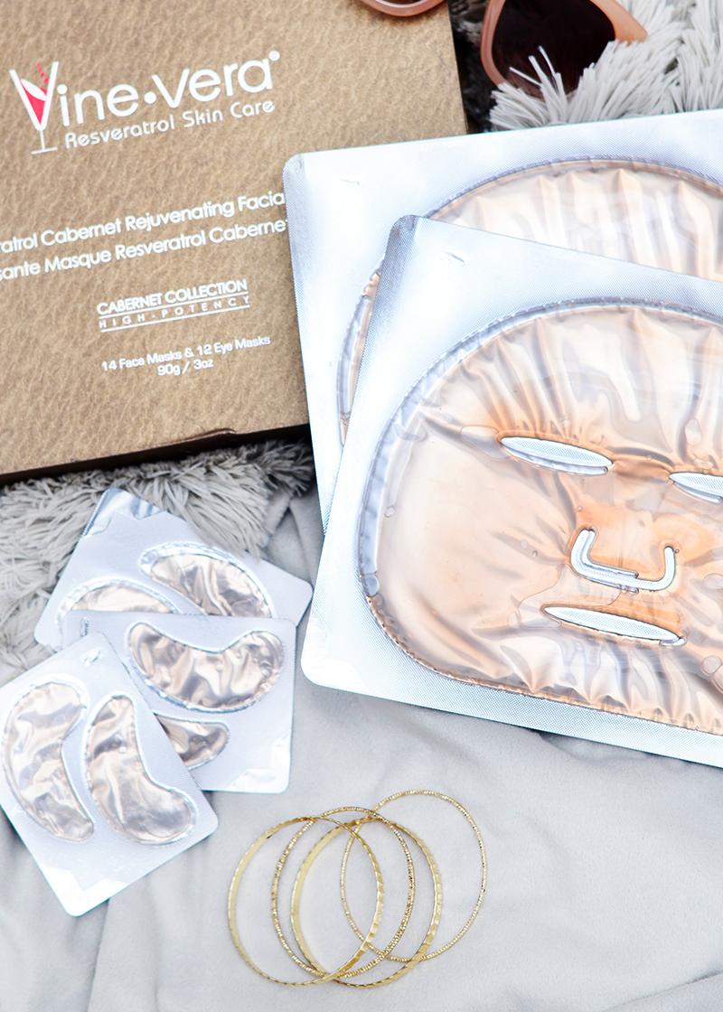 Cabernet Rejuvenation Facial & Eye Mask with background