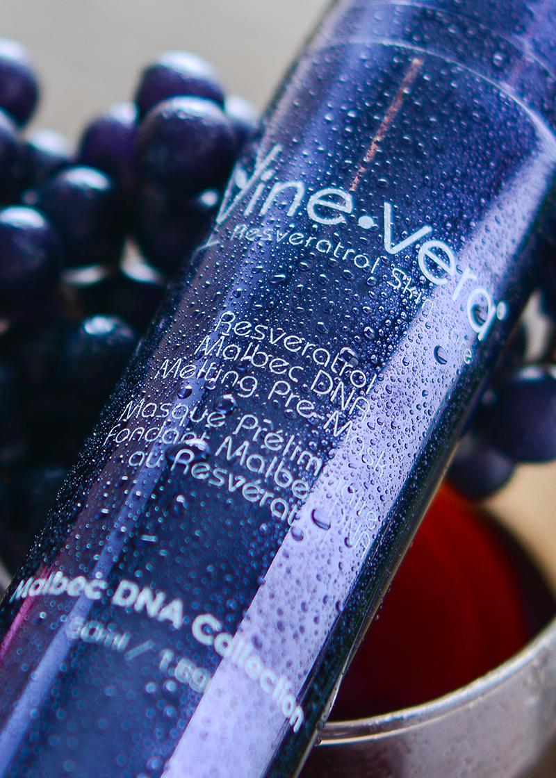 Malbec DNA Melting Pre-Mask with grape background