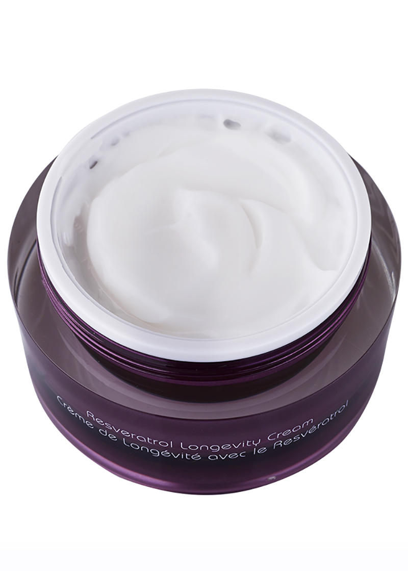 Resveratrol Pinot Noir Longevity Cream without its lid